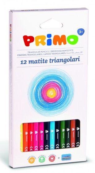 Sada pastelky PRIMO trojhranné - 12 + 1 ks Morocolor