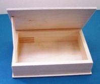 Dřevěná krabička čtverec 17,5x4,5cm