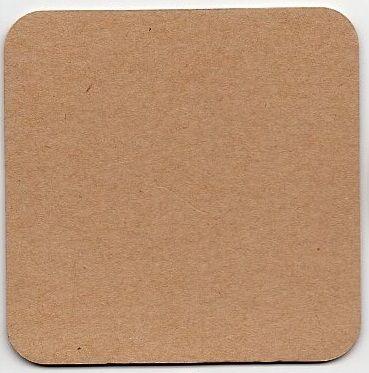 Hnědý podtácek tvrzený karton Craft 1ks