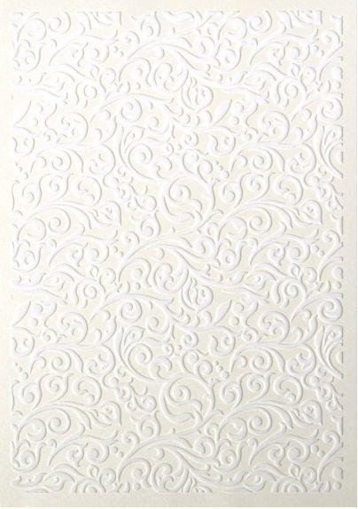 Kreativní papír 3D A4 230g/m2 VZOR bílý