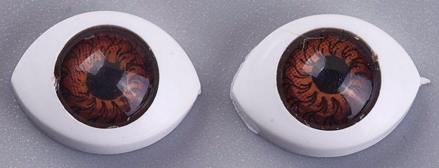 Plastové oči k nalepení 10x14mm - 2ks