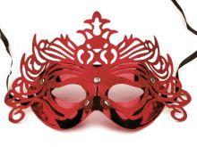 Karnevalová  maska s glitry 15 x 28 cm