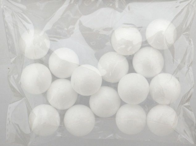 Koule polystyren bílé 25mm - 15ks