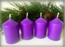 Svíčky adventní cca 40x60mm - 1ks