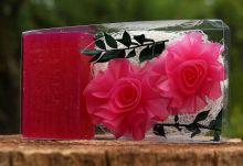 Kazeta - přírodní kosmetické mýdla RŮŽE A MÝDLO - 130g