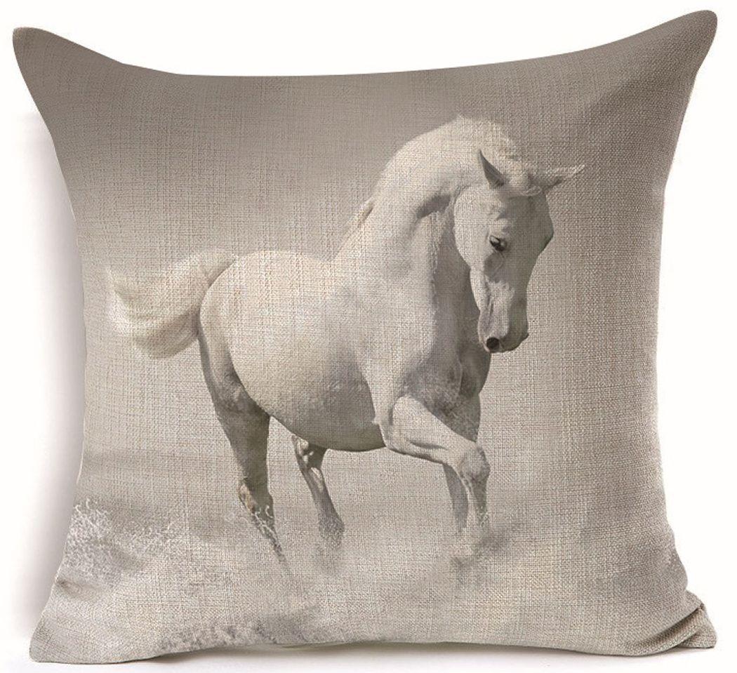 Povlak na polštář Bílý Kůň 45x45cm