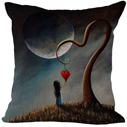 Povlak na polštář Srdce na stromě 45x45cm