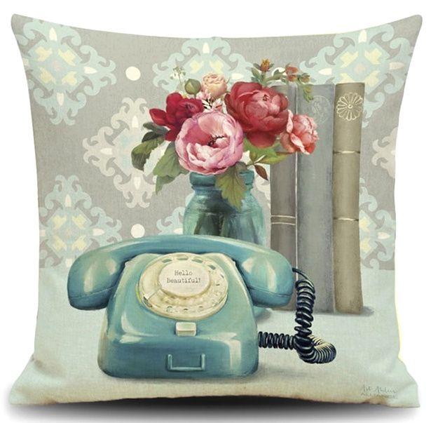 Povlak na polštář Vintage Telefon 45x45cm