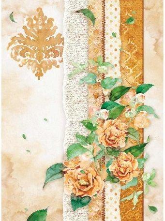 Rýžový papír 30 x 21cm /A4/,na decoupage Stamperia