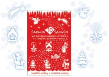 Šablony k nástřiku obrázků dekoračním sněhem 31x21cm