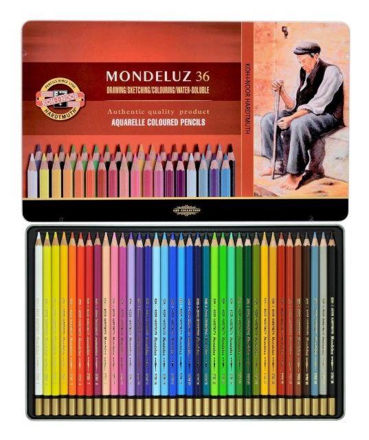 Akvarelová kreslířská souprava Mondeluz 36ks Koh-i-noor