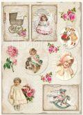 Kreativní tvrdý papír A4 250g Baby Vintage