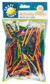 Kreativní zápalkové dřívka barevné 500ks