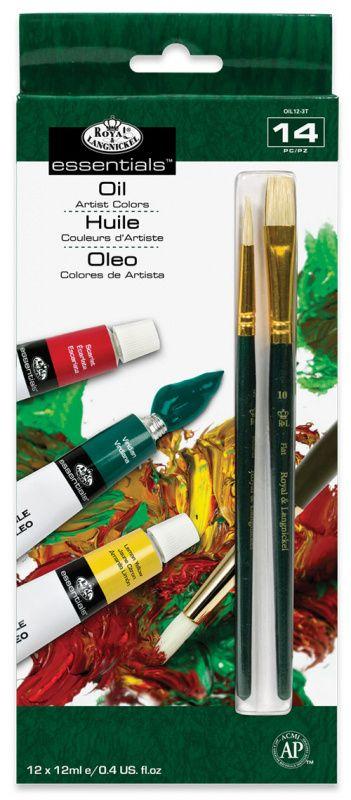 Sada olejových barev ROYAL 12x12ml + 2x štětec