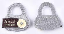 Textilní aplikace HAND MADE kabelka 30x28mmm - 1ks