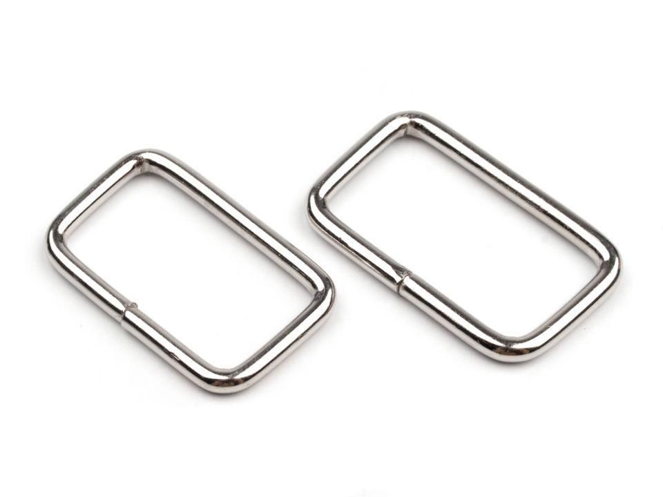 Průvlek obdelník kovový na koženou galanterii 47x28mm - 1ks