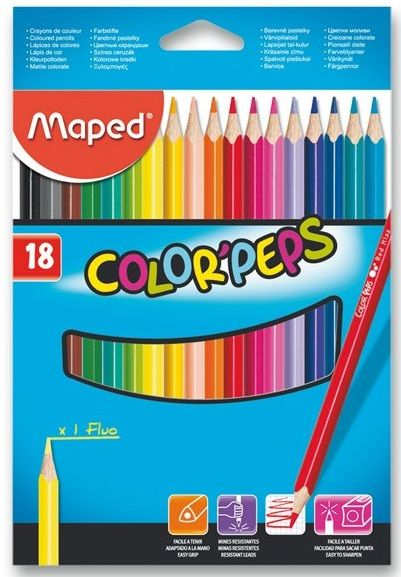 Pastelky trojhranné Maped COLOR¨PEPS 18ks