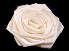 Saténová růže Ø70mm - 1ks