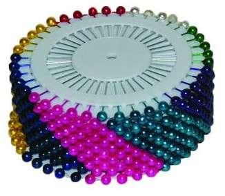 Špendlíky s barevnou hlavičkou - 40ks