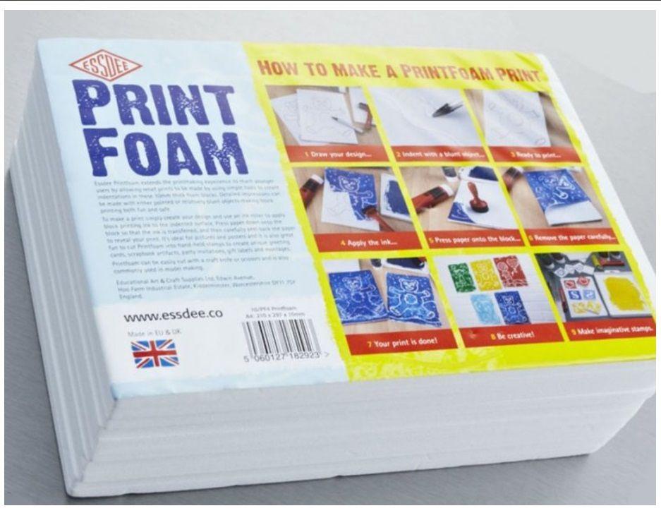 Pěna PRINT FOAM na výrobu razítek nebo linoryt 15x21cm