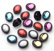 Kabašon v pouzdře akrylát na přišití Mix barev 11x8x6mm - 10ks