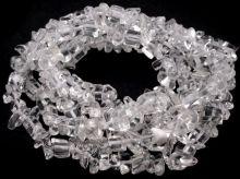 Minerál korálky Křišťál zlomky 3-10mm - 1šňůra/cca217ks/88cm