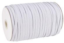 Prádlová plochá pruženka šíře 8mm bílá - 1m