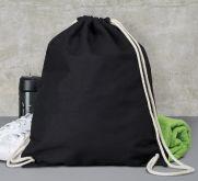 Bavlněný batůžek 140g/m2 černý 37x46,5cm