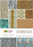 Kreativní papíry ANIMALS 80g/m2 A4  - 15listů