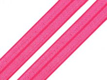 Lemovací elastická pruženka půlená PINK neon 18mm - 1m