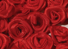 Růžičky saténové Ø 13-15mm - 1ks