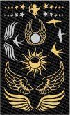 Tetovací obtisky zlaté,stříbrné 15,5x9,5cm
