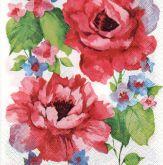 Ubrousky 33 x 33 cm RŮŽE akvarel
