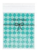Celofánový sáček s lepicí lištou TYRKYSOVÝ 12x10cm - 10ks