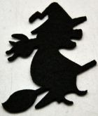 Dekorace filc Čarodějnice 5cm - 3ks
