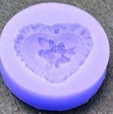 Forma silikonová SRDCE s růžičkami 58mm