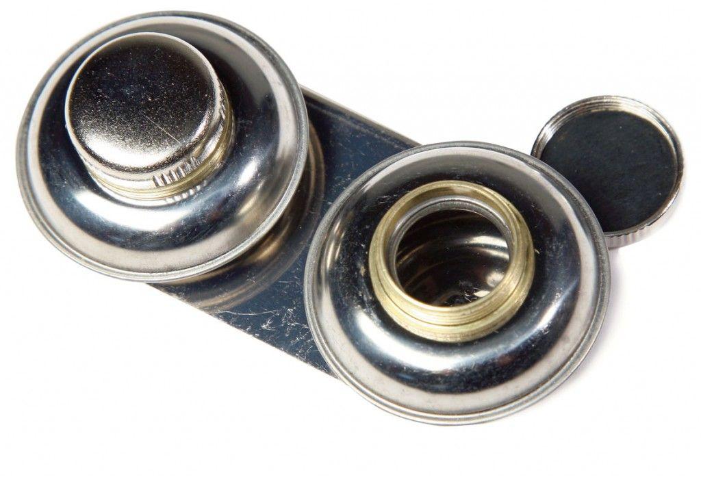 Olejnička kovová dvojitá