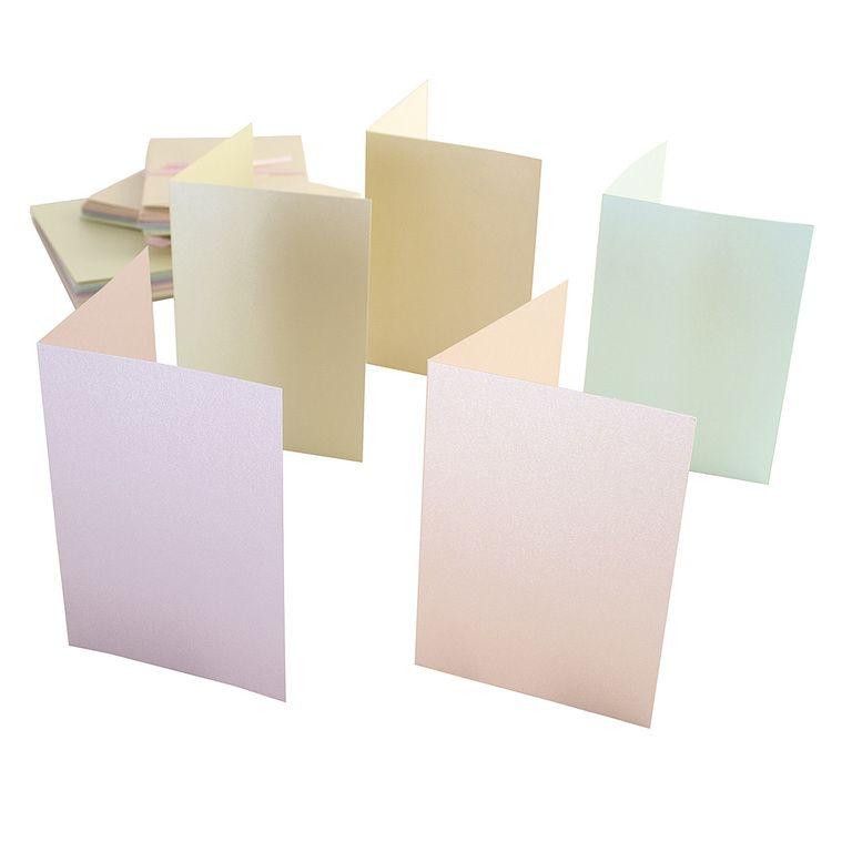 Obálky a karty pastelová perleť A6 250g/m2 50ks