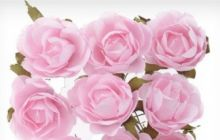 Růžičky na drátku papírové cca 40mm - 3ks