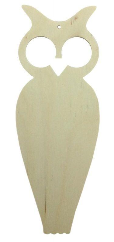 Dřevěný výsek SOVIČKA 14,5cm 1ks