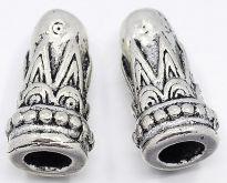 Kaplík kov barva antik stříbrná 7,5x14,5mm - 1ks