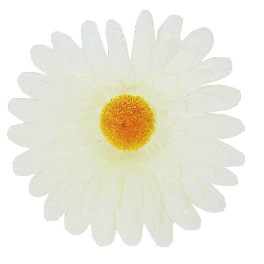 Dekorace vazbový květ GERBERA krémová 14cm - 1ks