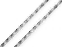 Plochá pruženka šíře 4 mm jemná sv.šedá - 1m