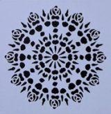 Šablona plastová MANDALA 13x13cm