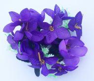 Květinový umělý fialový věneček 12cm