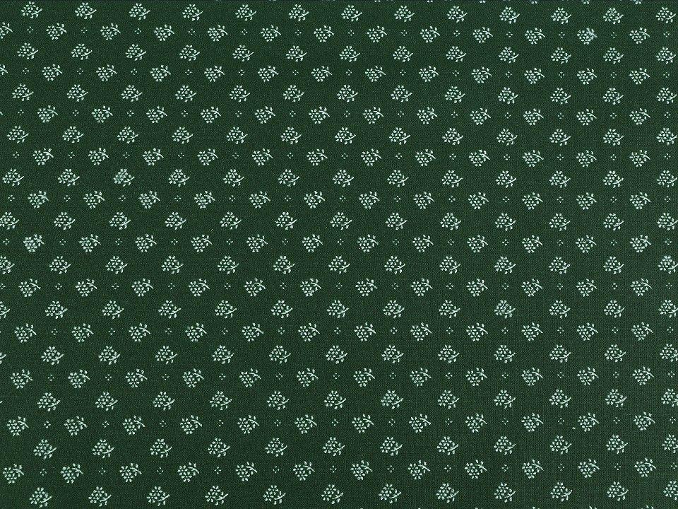 Látka bavlna JEDLOVÁ ZELENÁ 50x70cm