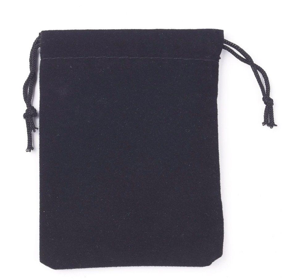 Sametový pytlíček černý 7x9cm - 1ks