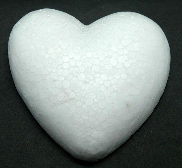 Srdce polystyren 7cm