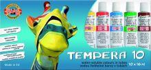 Temperové barvy Koh-i-noor 10x16ml