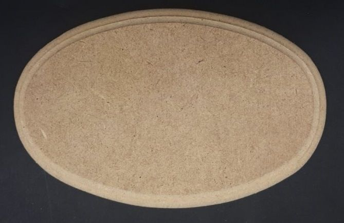 MDF frézovaný OVÁL 20,5x14,5 cm
